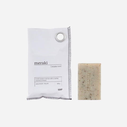 Meraki Hand soap, Sesame Scrub - The Jute Basket