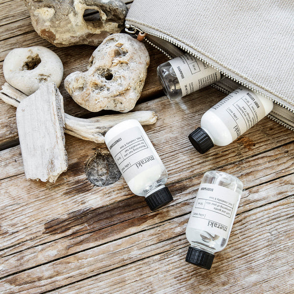 Travel kit - Shampoo, Conditioner, Body lotion and Body wash - The Jute Basket