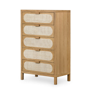 Allegheny 5 Drawer Dresser (Natural Cane)