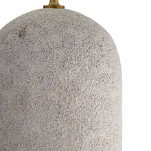 Load image into Gallery viewer, Caprese Lamp (Ivory Volcanic Glaze)