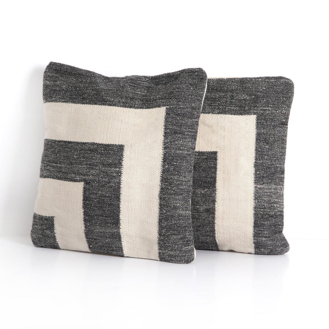 Cornered Outdoor Pillow Set, S/2