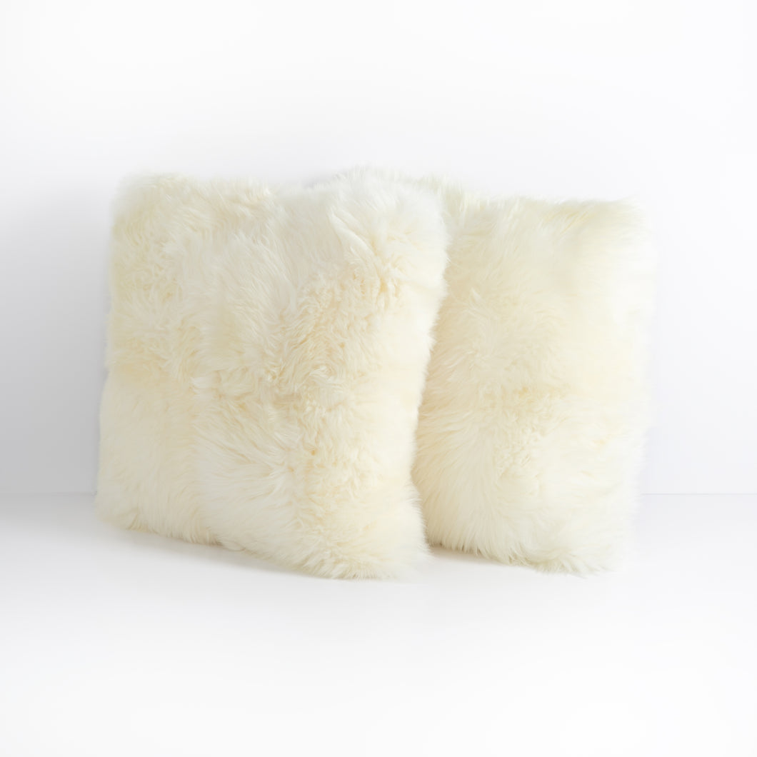 Arctic Fox Cream Pillow, S/2