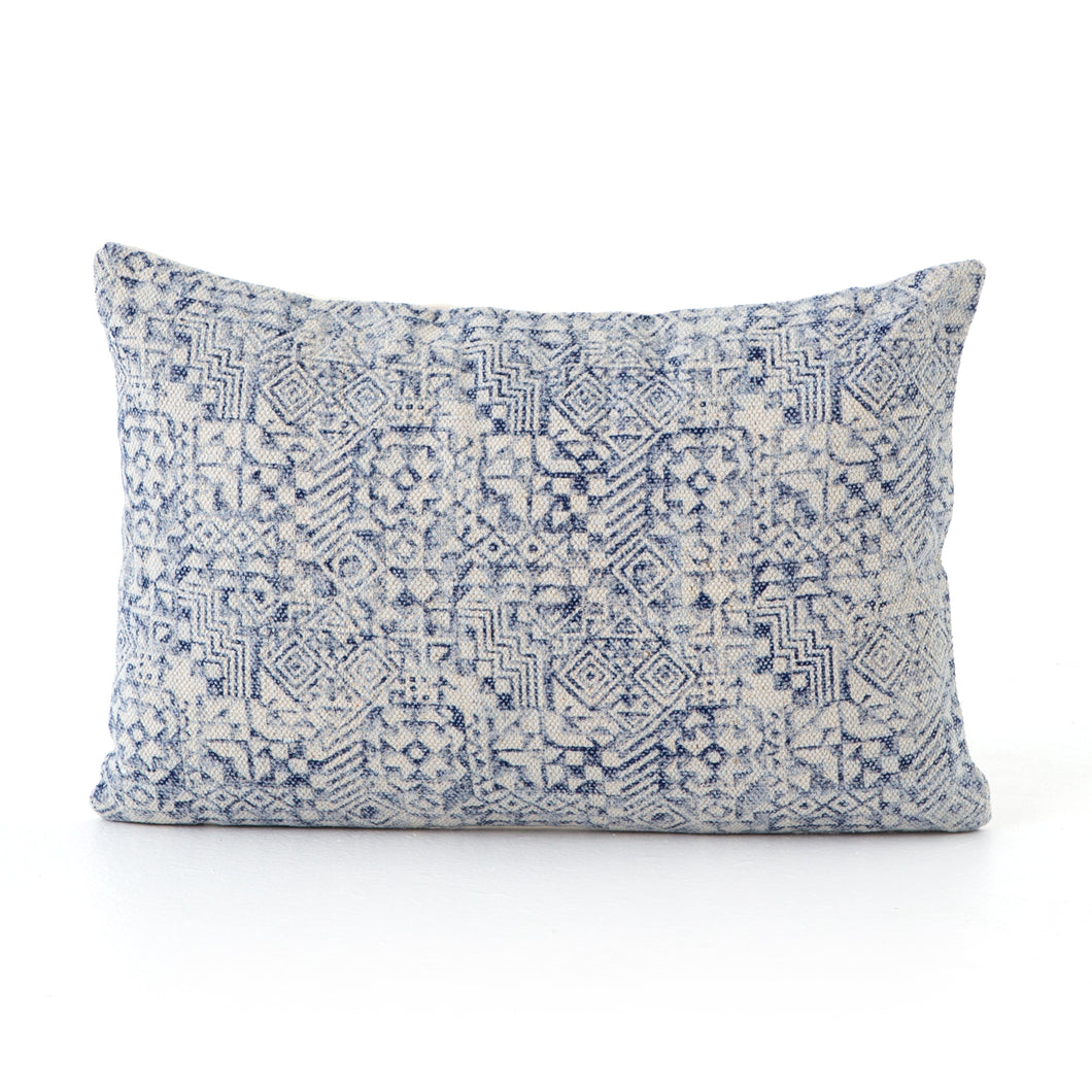 Ink Stamped Print Pillows, S/2