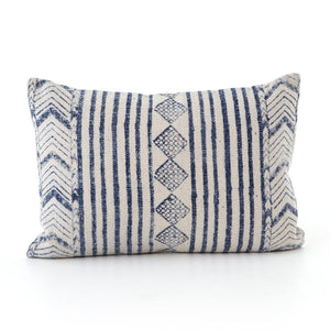 Aged Blue Diamond Pillows, S/2