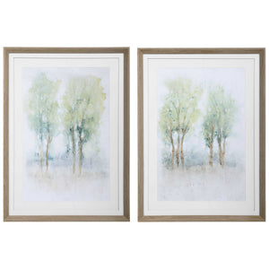 Treeline View Framed Prints, 2 Piece Set