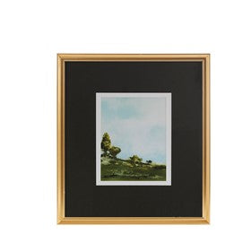Fields of Grass Framed Glass Wall Art