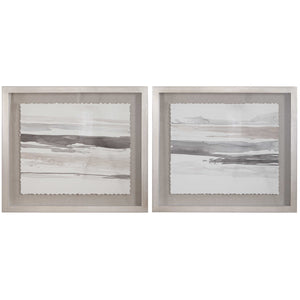 Monochrome Landscape Framed Prints, S/2