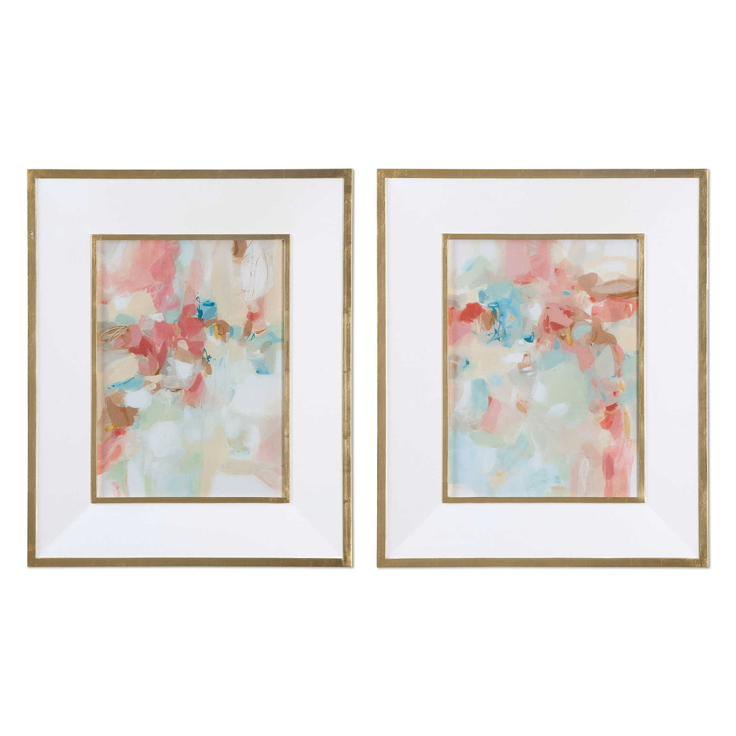 Blushed Acacia and Fences Framed Prints, S/2