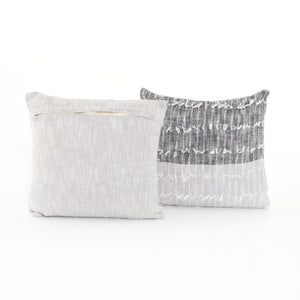 Black & Grey Sabrina Pillow, S/2