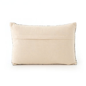 Faded Black Lumbar Pillow, S/2