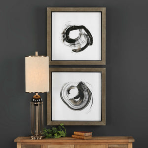 Brush Movement Framed Prints, S/2
