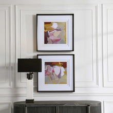 Load image into Gallery viewer, Plum Waved Framed Prints, S/2