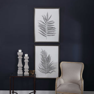 Soft Ferns Framed Prints, S/2