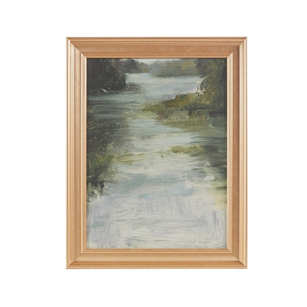 River Framed Glass Wall Art