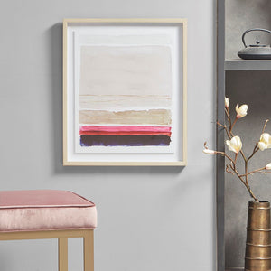 Multicolored Sunset Framed Glass Wall Art