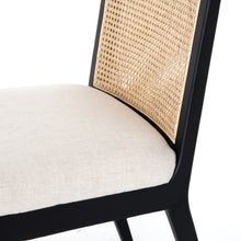 Load image into Gallery viewer, Tony Cane Armless Dining Chair (Brushed Ebony)
