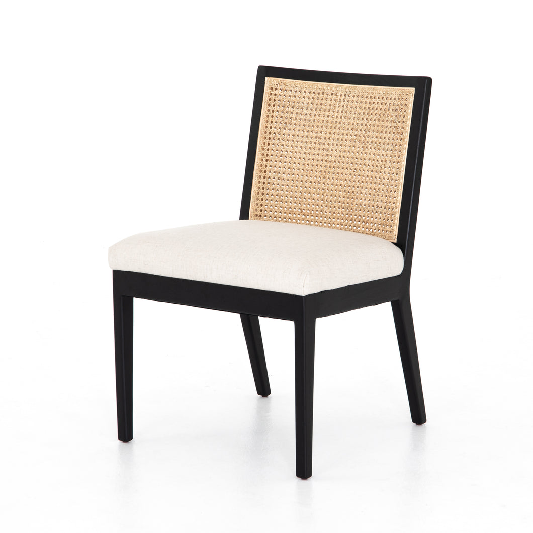 Tony Cane Armless Dining Chair (Brushed Ebony)