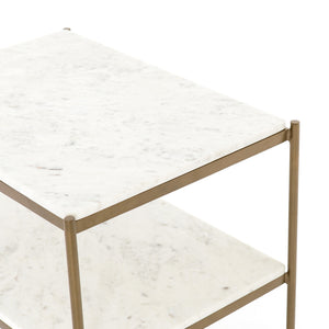 Francesca Nightstand (Antique Brass)