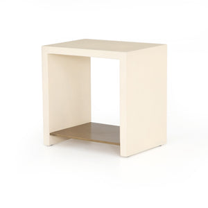 Hadley End Table (Parchment White)