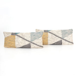 Muted Triangular Color Pillow, S/2