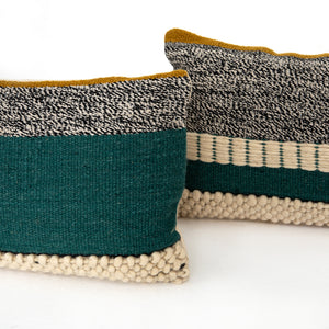 Patchy Block Pillows, S/2