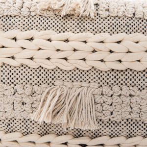 Ivory Braided Pillow, S/2