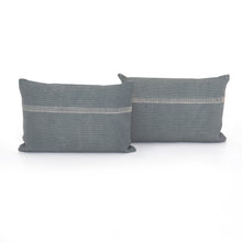 Load image into Gallery viewer, Blue Slate Pillow, S/2
