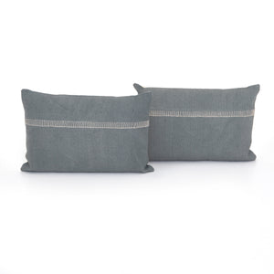 Blue Slate Pillow, S/2