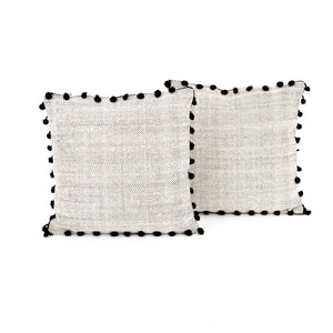 Pom Pom Trim Pillows, S/2