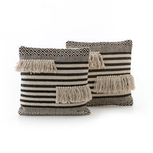 Load image into Gallery viewer, Aztec Fringe Pillow, S/2
