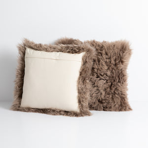 Arctic Fox Taupe Pillow, S/2
