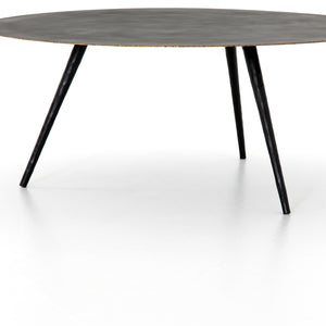 Tegan Round Coffee Table (Rubbed Black)
