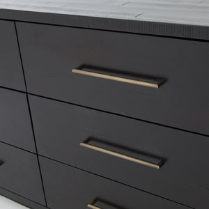 Sophia 9 Drawer Dresser (Burnished Black)