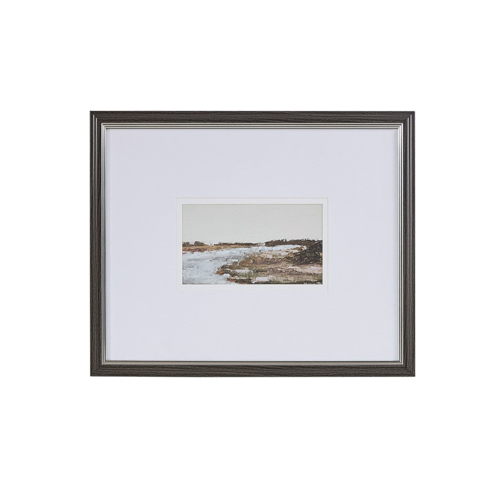 Waterfront Framed Glass Wall Art