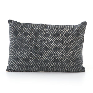 Charcoal Revival Pattern Pillow, S/2