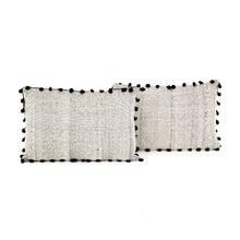 Load image into Gallery viewer, Pom Pom Trim Pillows, S/2