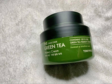 Tony Moly Chok Chok Green Tea Watery Cream korean skincare unniesskincare routine night cream moisturizer