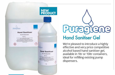 Hand Sanitiser Gel Puragiene 70% (WHO)