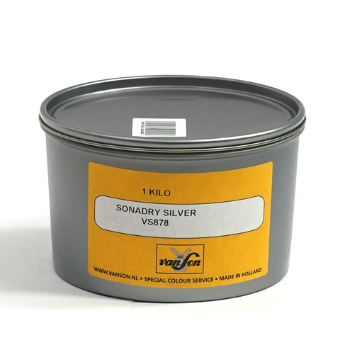 Van Son SonaDry Metallic Ink for Waterless Printing (Silver 877 & Gold Nr 872)