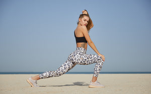 Maeya Clothing Leopard Leggings and Sports Bra