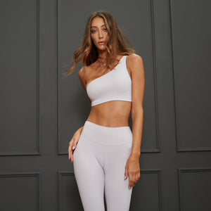 Classic One-shoulder Bra in Pearl Gray