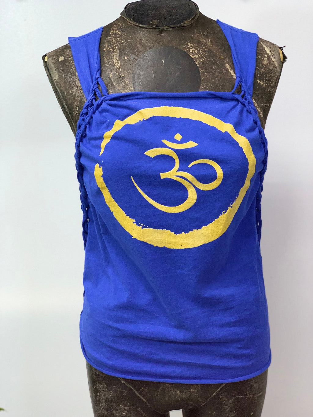 Om Yoga Tank Cut by SnipTease