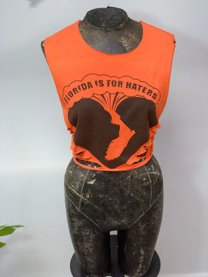 Florida is for Haters Cut Crop Top by Sniptease