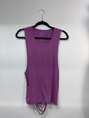 Dri Fit Purple Gym Tank Cut Shirt by Sniptease
