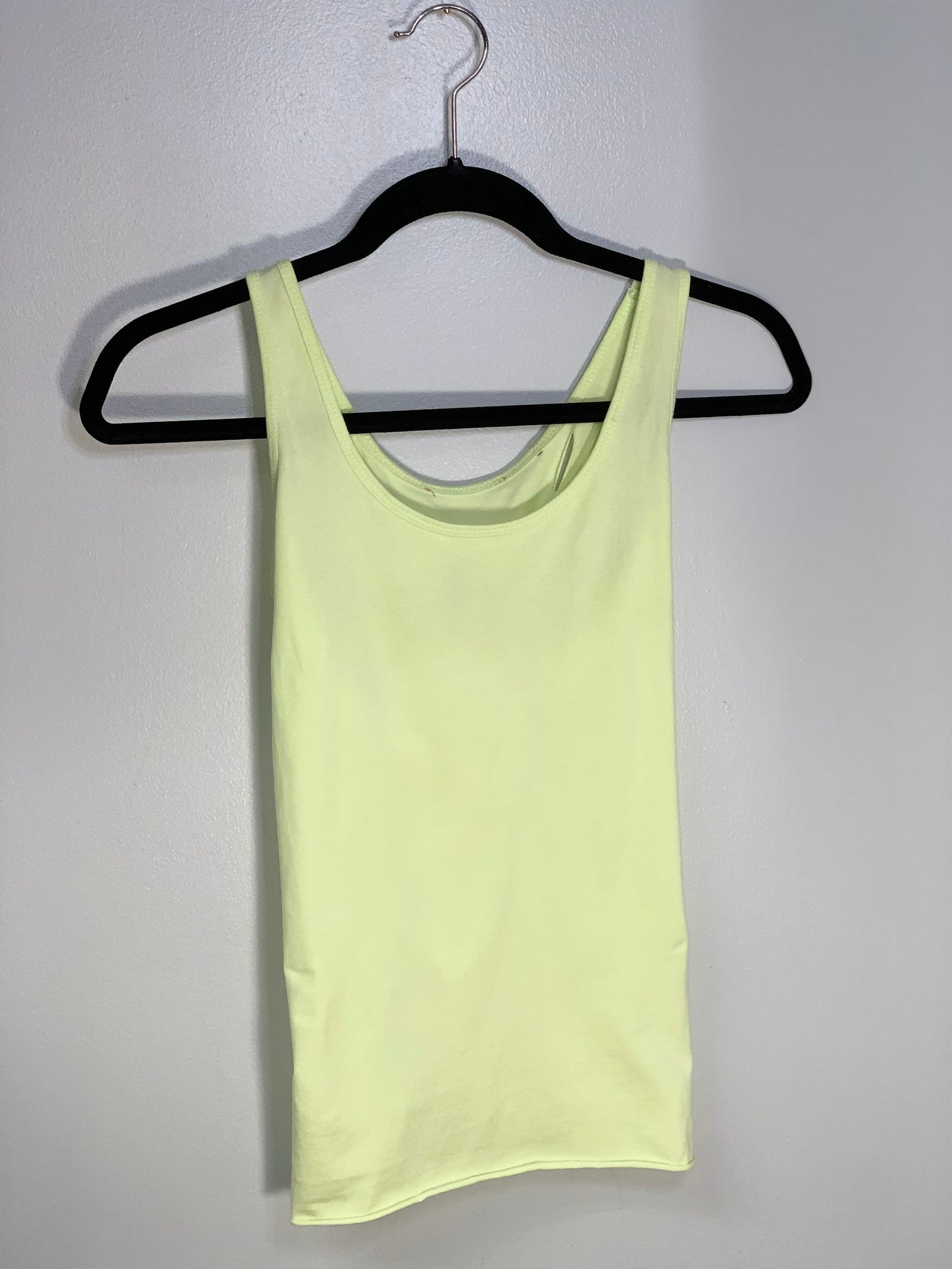 Spiral Design Neon Yellow Tank Cut Shirt by Sniptease