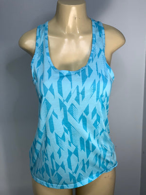 Geometric Blue Dri Fit Racerback Tank Cut by SnipTease