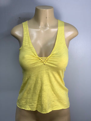 Sunshine Yellow Racerback Tank Top Cut by Sniptease