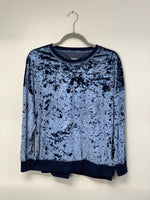 Blue Velvet Sweatshirt Cut Up by Sniptease