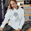Unique White Color Namaste Hoodie - Cool Women's Hoodie | Moszt Yoga