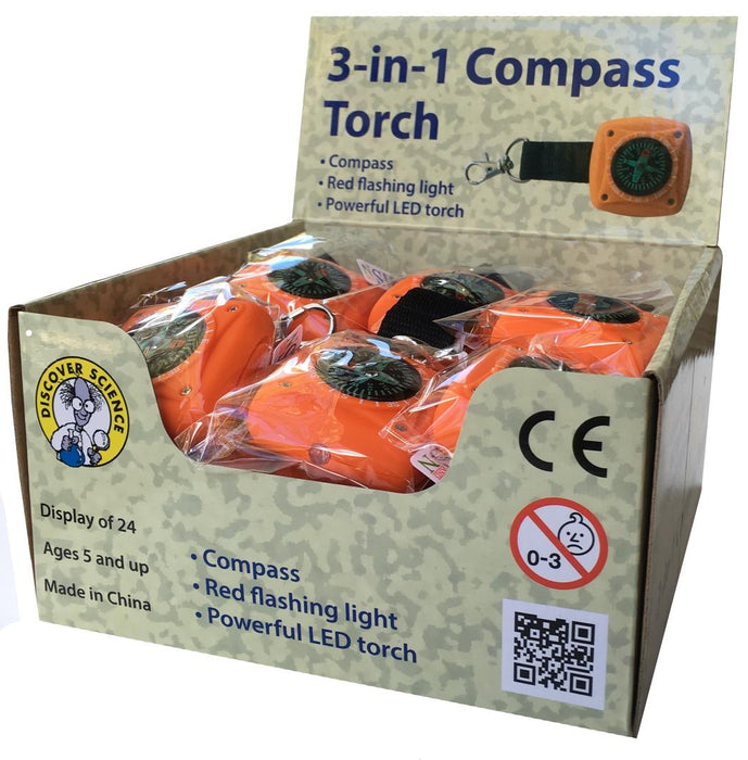 3 in 1 Compass Torch